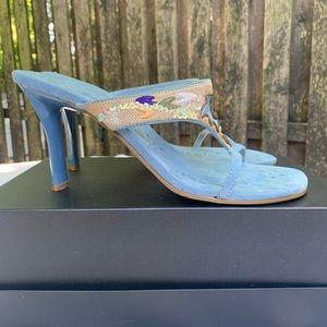 Shoes - High Heel/Stappy Sandal/Light Denim Color
